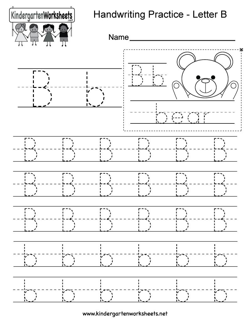 Letter B Coloring Worksheets – Letter B Worksheets for Kindergarten
