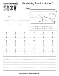 Letter I Writing Practice Worksheet - Free Kindergarten ...