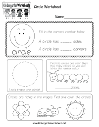 Circle Worksheet - Free Kindergarten Geometry Worksheet ...