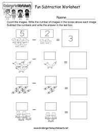 Fun Subtraction Worksheet - Free Kindergarten Math ...