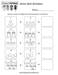 Winter Math Worksheet - Free Kindergarten Seasonal ...