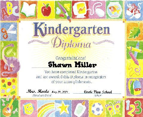 kindergarten diploma template - kindergarten graduation certificates