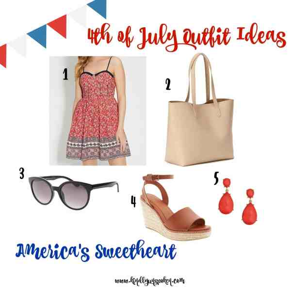 America's Sweetheart 4th of July Outfit Idea