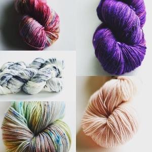 Newly dyed for the Wi Sheep and Wool festival thishellip