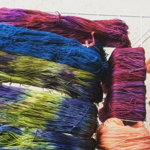 Making some color Getting ready for the Wisconsin Sheep andhellip