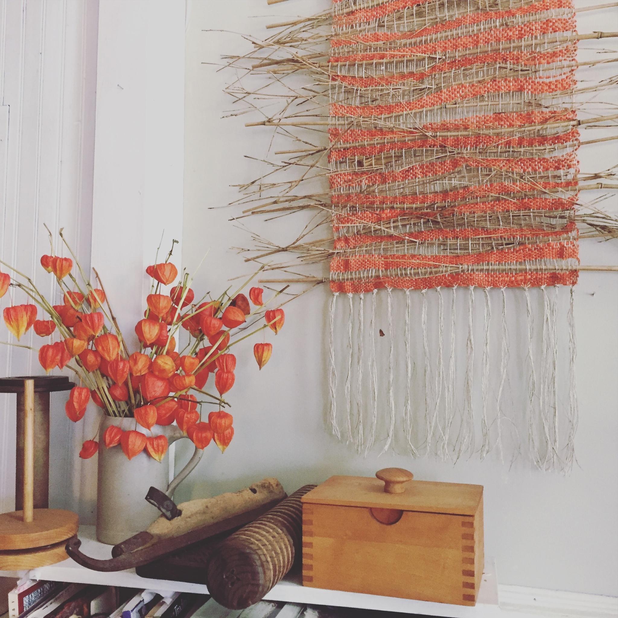 Marcia Kjos's weaving studio in Alma,