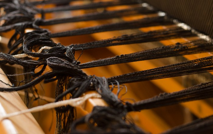 black collapse weave shawl