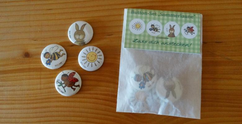 Button-Set Sommer