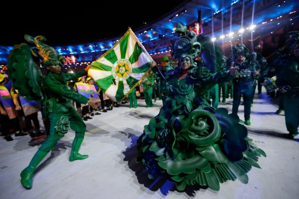 Dancers perform during the Opening Ceremony of the Rio 2016 Olympic Games at Maracana Stadium on August 5, 2016 in Rio de Janeiro, Brazil. (Photo by Jamie Squire/Getty Images)