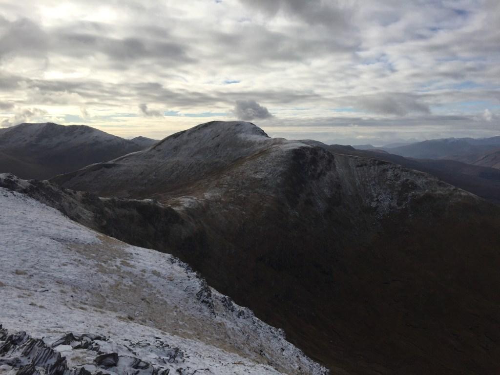 View back to Sgurr nan Ceannaichean from Moruisg