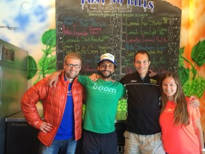 Met Big Sur marathon winner Adam Roach in the pub! Denis, me, Adam and his girlfriend