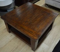 Square Dark Wood Coffee Table - Home Design