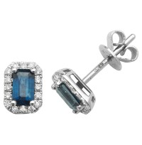 Kings of Diamonds & Emerald cut Emerald and Diamond Earrings