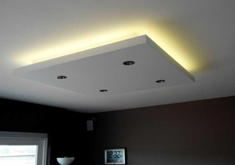 DIY a dropped ceiling light box