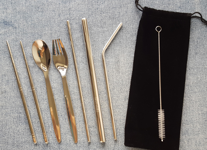 Zero Waste Straws & Cutlery Set
