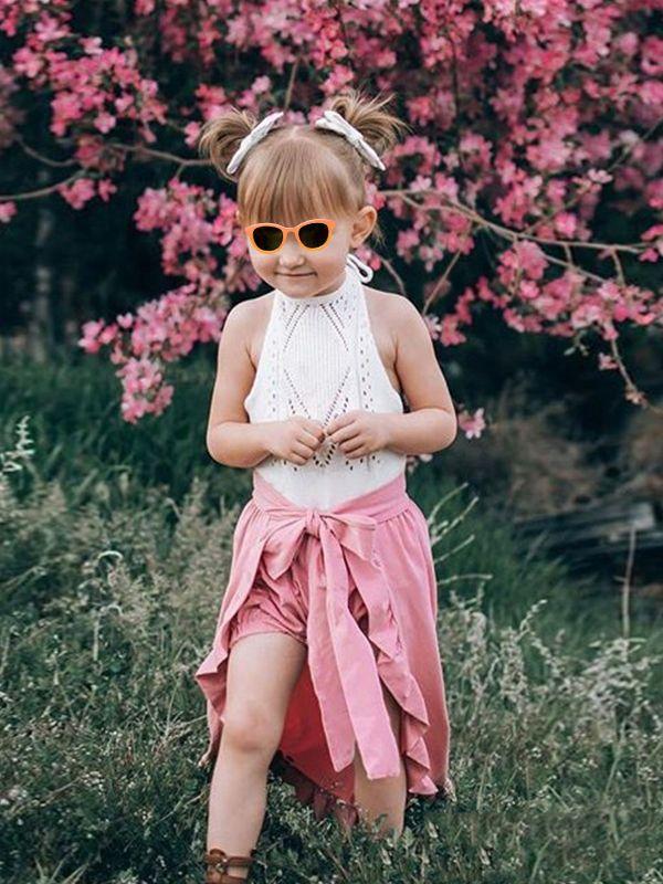 Wholesale 2-piece Cute Unique Kids Clothes Set Short