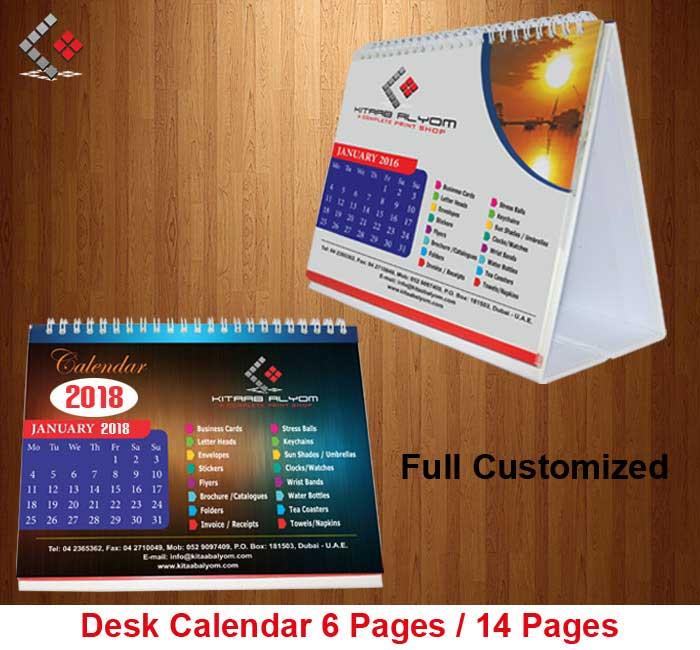 Calendar Printing In Dubai Desk Amp Table Top Calendar