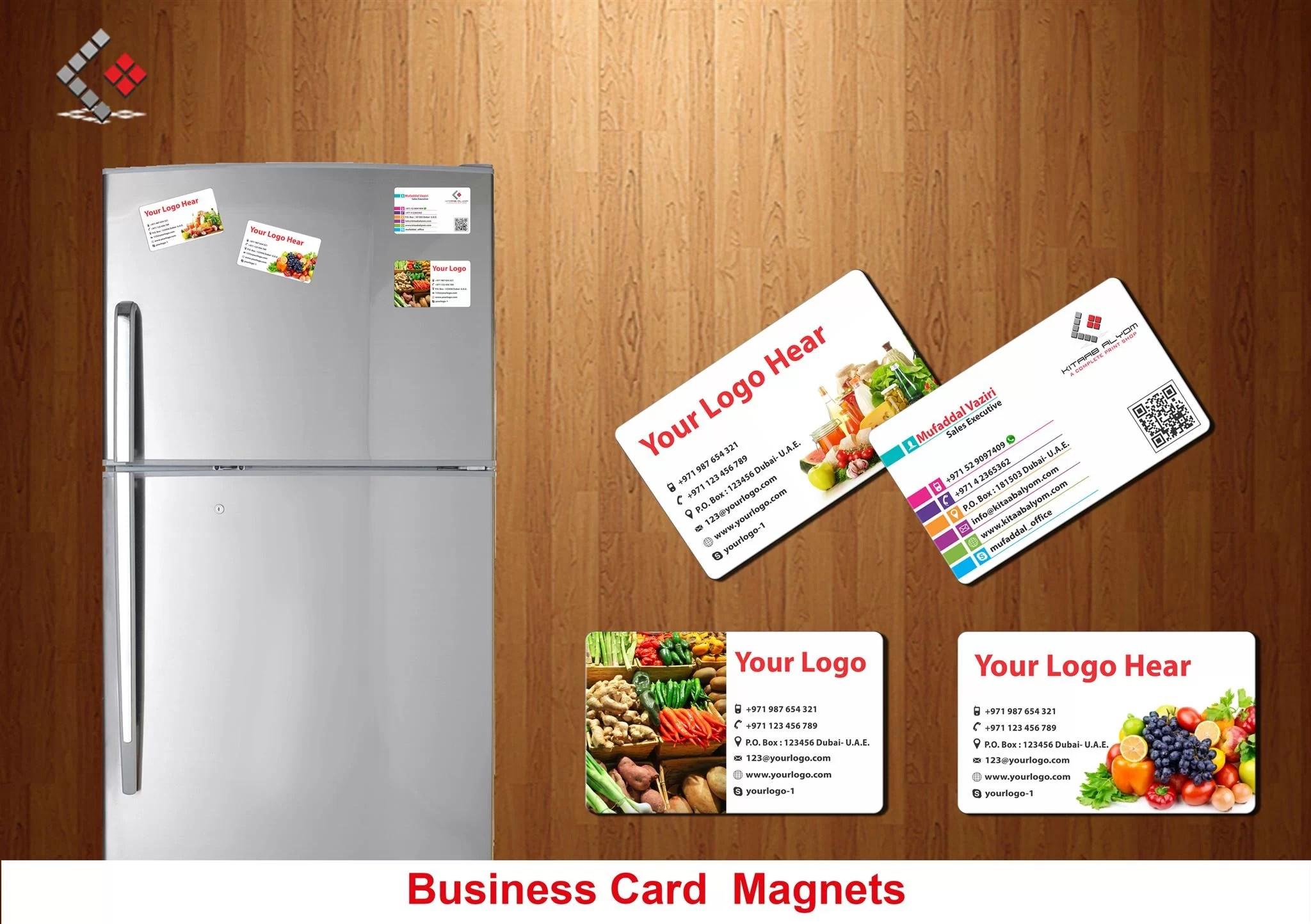 Business card magnets magnets promotional items in dubai abu dhabi reheart Image collections
