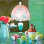 『ランプのある風景』 講師・油彩画・F15号