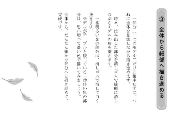 デッサン入門(鉛筆デッサンの手引き)北野田絵画教室