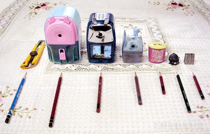 北野田絵画教室 デッサン鉛筆の削り方