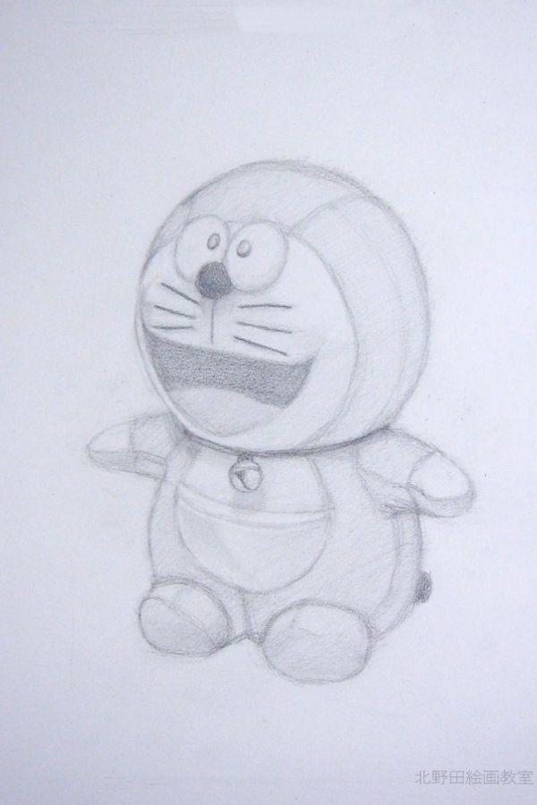鉛筆デッサンの描き方(ドラえもんぬいぐるみ)3