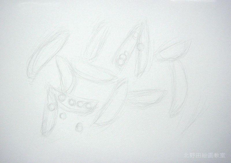 水彩色鉛筆.の描き方・えんどう豆スライダー1