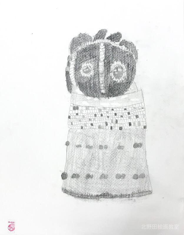 あいちゃん 小学4年生 鉛筆デッサン
