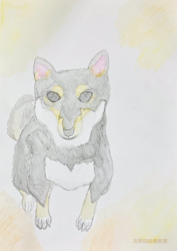 よしのちゃん(小学5年生)水彩画・F 4号