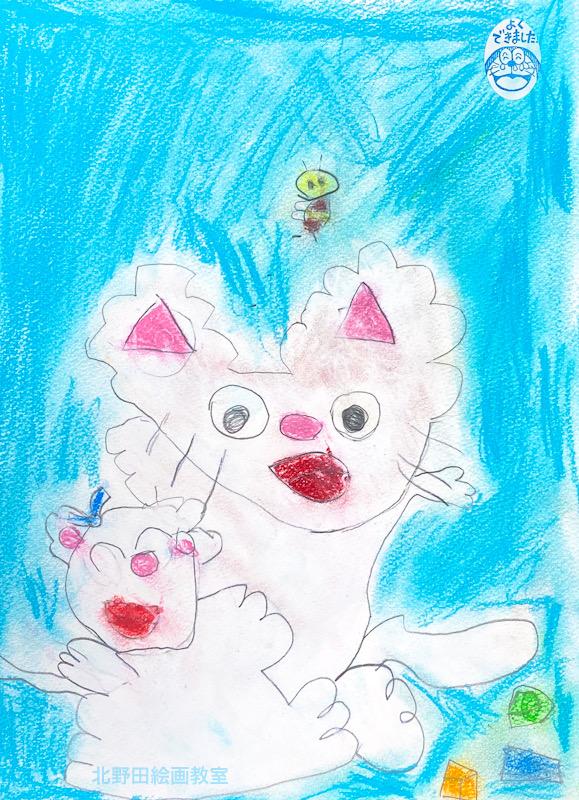 ののかちゃん(幼稚園生 6歳)パステル画・F4号