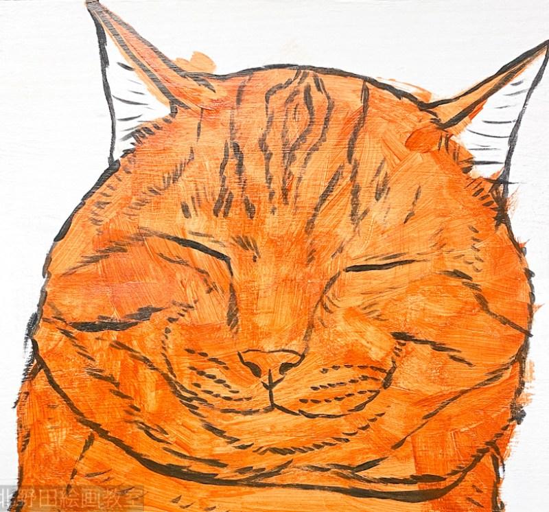 講師 アクリル画 かまぼこ板の絵 2021年