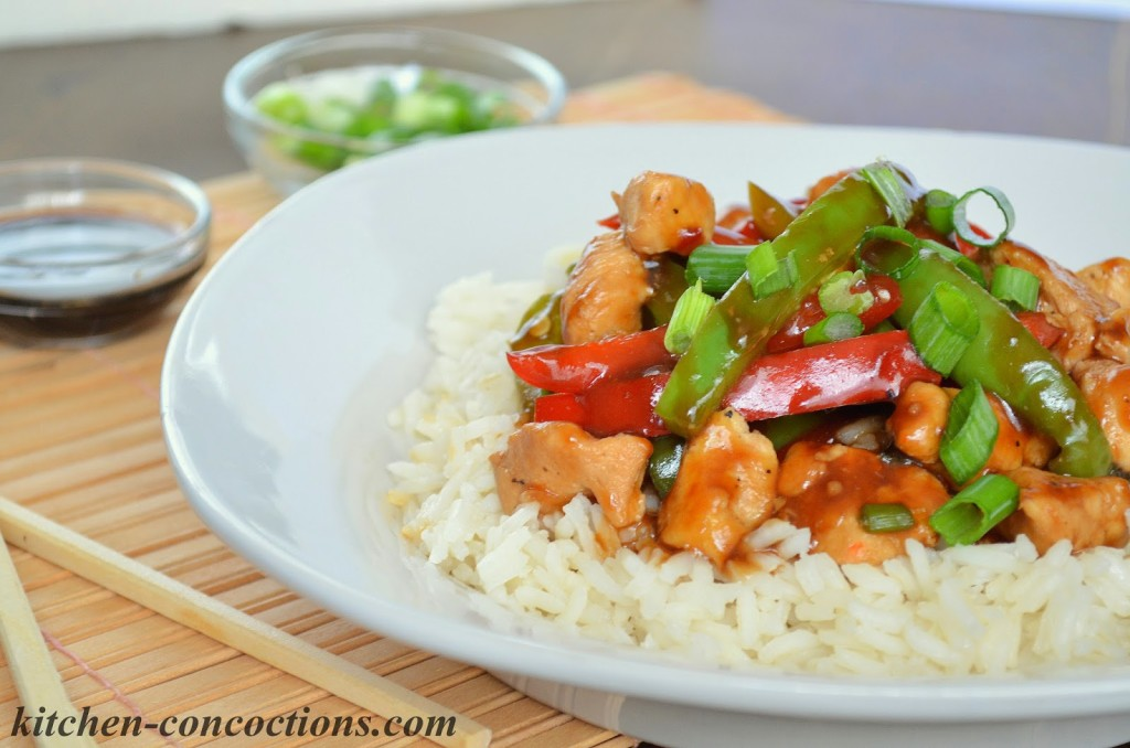 Chicken and Bell Pepper Stir-Fry - Kitchen Concoctions