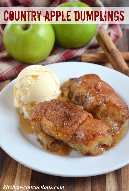 Country Apple Dumplings - Kitchen Concoctions