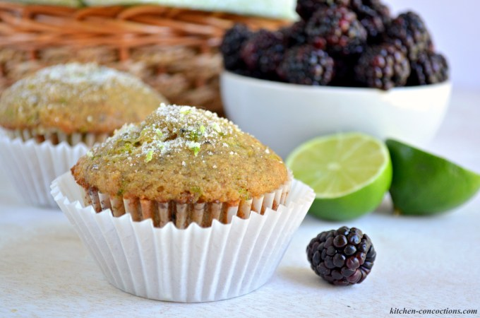 ... you these satisfying and delicious Blackberry Lime Chia Seed Muffins