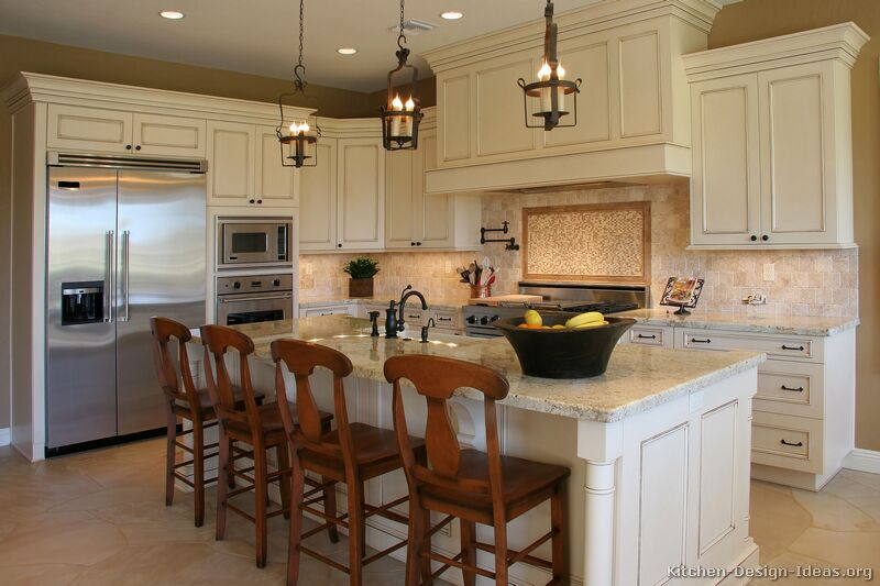 Kitchen Design Ideas Antique White Cabinets