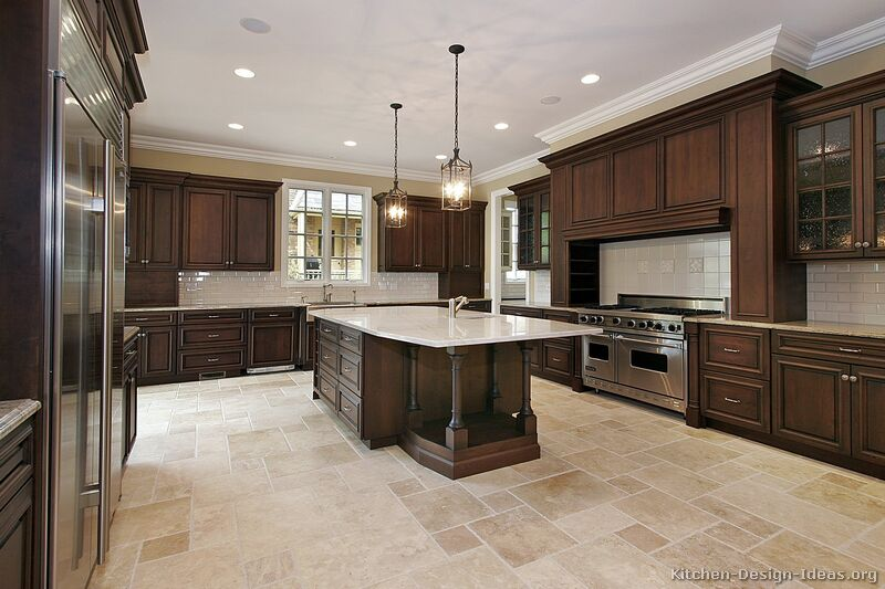 Cream Paint Color Ideas For Modern Kitchen With Cherry Cabinets Colors Traditional Kitchen Cabinets - Photos & Design Ideas
