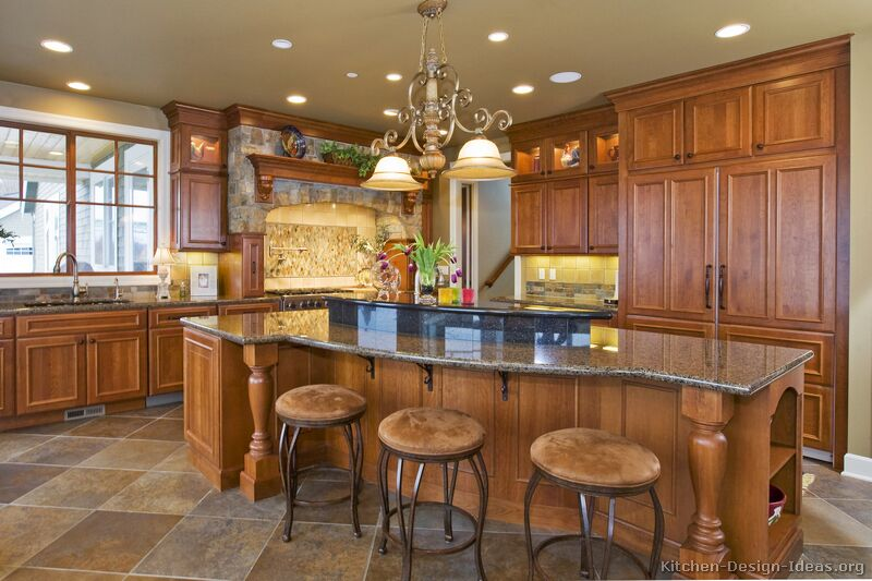 Image Of Ideas Tuscan Kitchen Decor   Kitchen  Cabinets Traditional Medium Wood