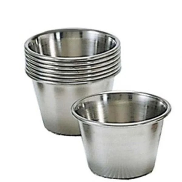 Stainless steel sauce cups 25 oz Adcraft - resistant dinnerware by