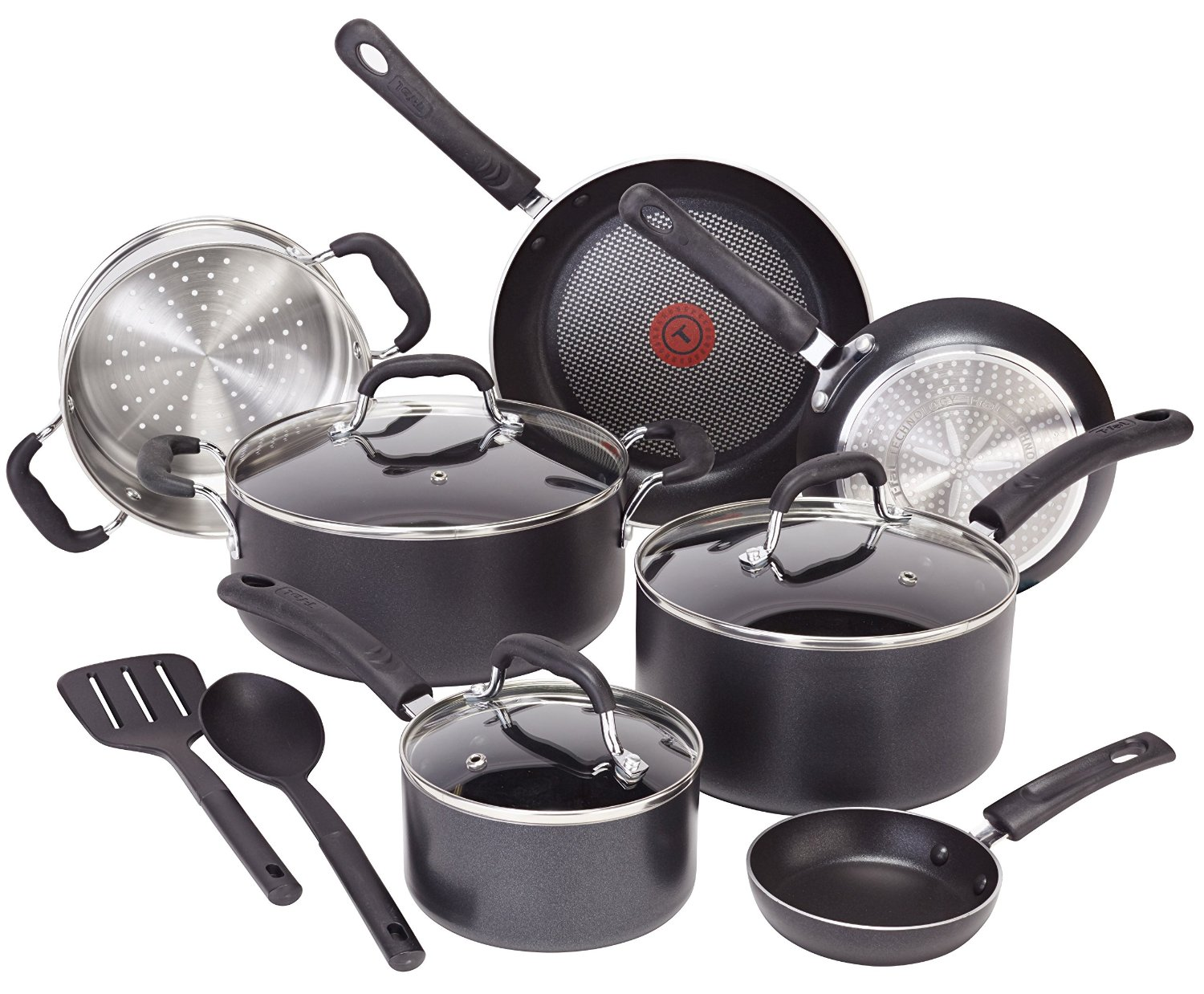 T-Fal C515SC Professional Total Nonstick Thermo-Spot Heat Indicator Induction Base Cookware Set