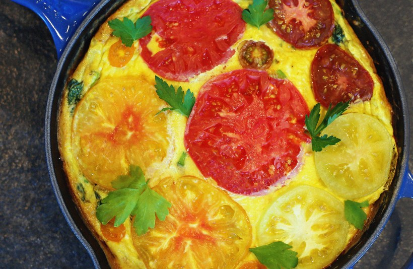 This heirloom tomato frittata is a no brainer for an easy summer ...
