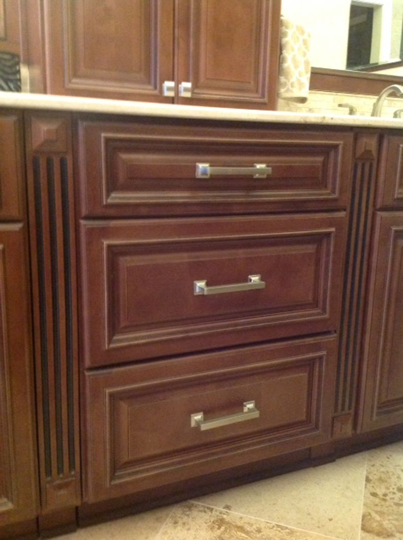 rtakitchenmakeovers assembled kitchen cabinets Copyright Kitchen Cabinet Discounts Trina Walnut Creek RTA Bathroom Vanity Drawer Base AFTER Bathroom Makeover