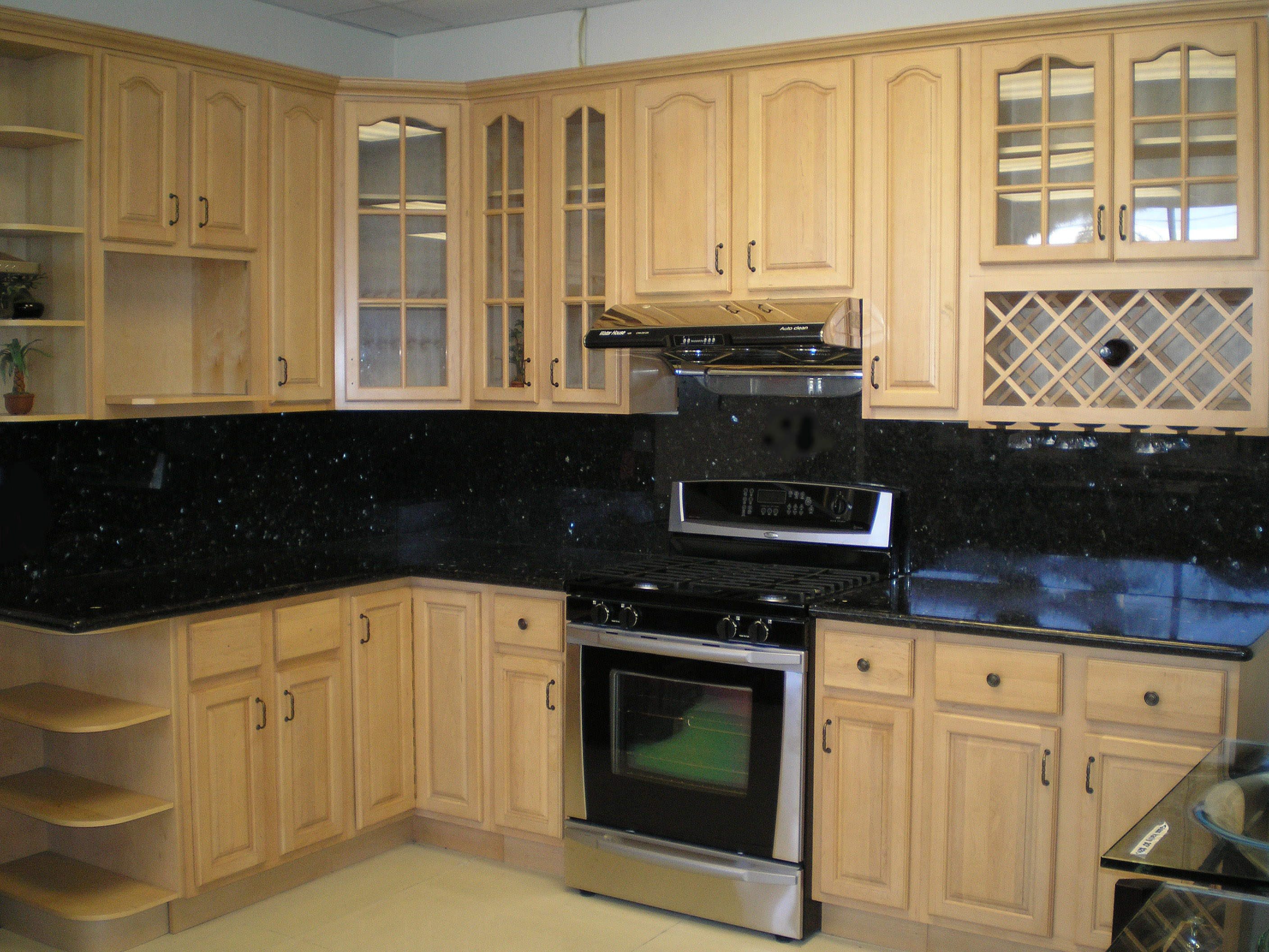maple kitchen cabinets kitchens with maple cabinets Cathedral Raised Panel Natural