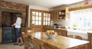 Interior Of Farmouse Kitchen