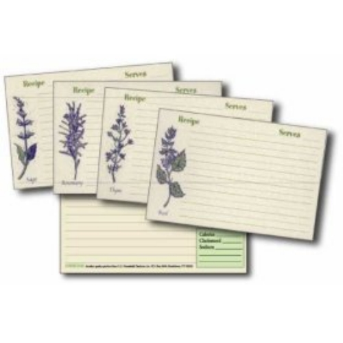 4x6 Recipe Cards and Protectors - Herb