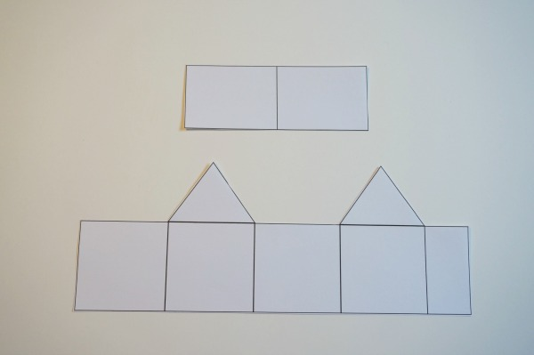 Print, Cut Out and Create Paper House Ornament Template