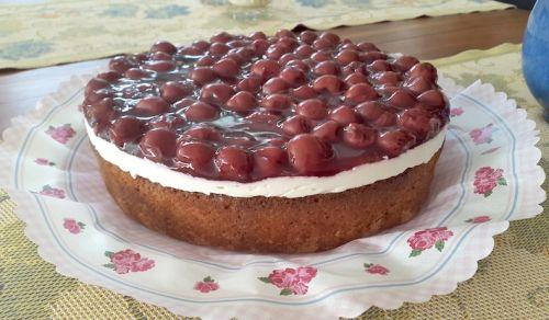 Kirsch-Mascarpone Torte – glutenfrei ohne Mehl