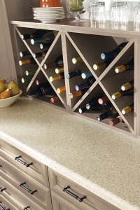 Wall Wine Storage Cabinet - Kitchen Craft Cabinetry