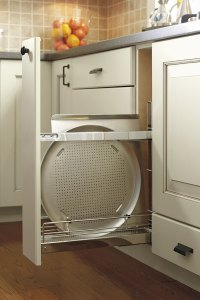 Base Pull Out Tray Divider Cabinet - Kitchen Craft