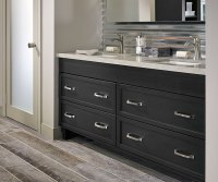 Dark Gray Cabinets in a Casual Bathroom - Kitchen Craft