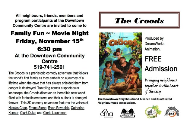 "Family Fun NIght - Friday Night Movie - ""The Croods"""